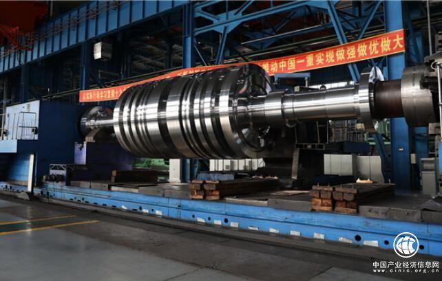 中国一重成功研制常规岛整锻低压转子成套锻件