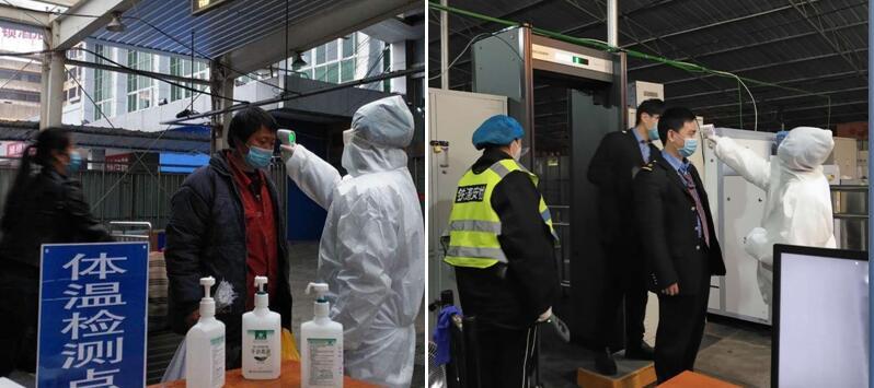 點贊!24小時堅守路口監測體溫的鷹潭中醫院人